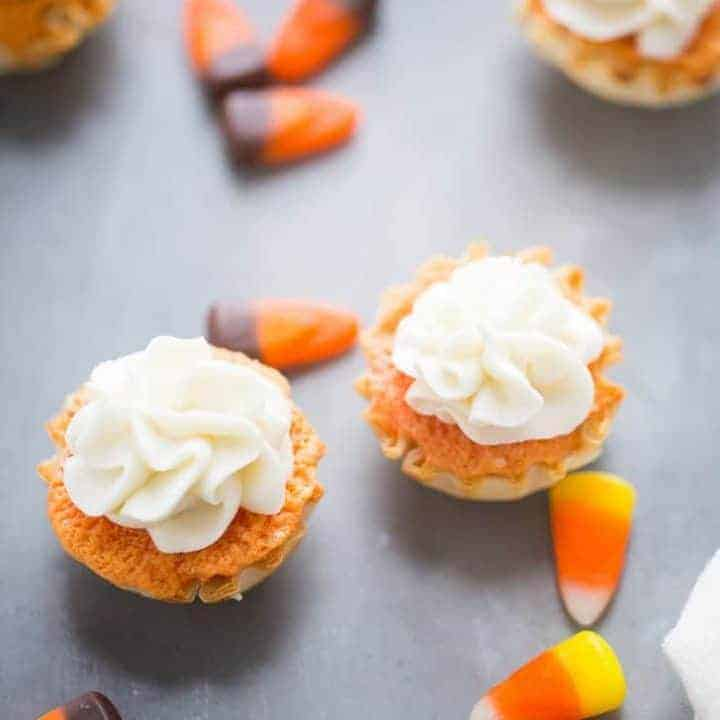 Candy Corn Mini Cakes