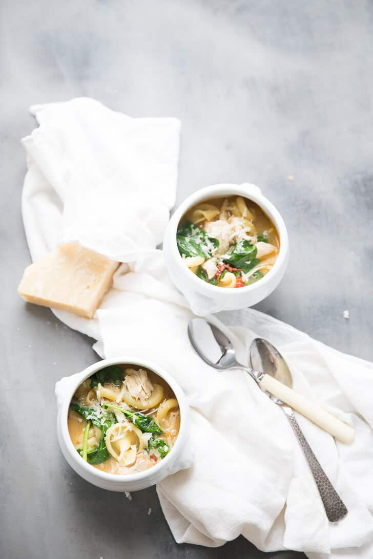 This soup combines the flavors of chicken florentine in an easy, heart-warming soup that feeds the belly and the soul.