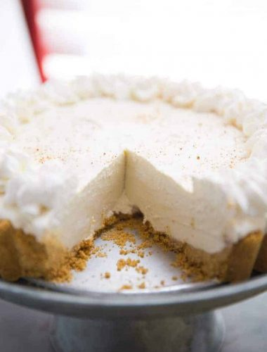 Eggnog Cheesecake with Rum