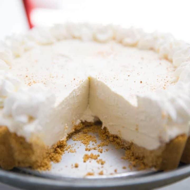 Frozen Eggnog Cheesecake