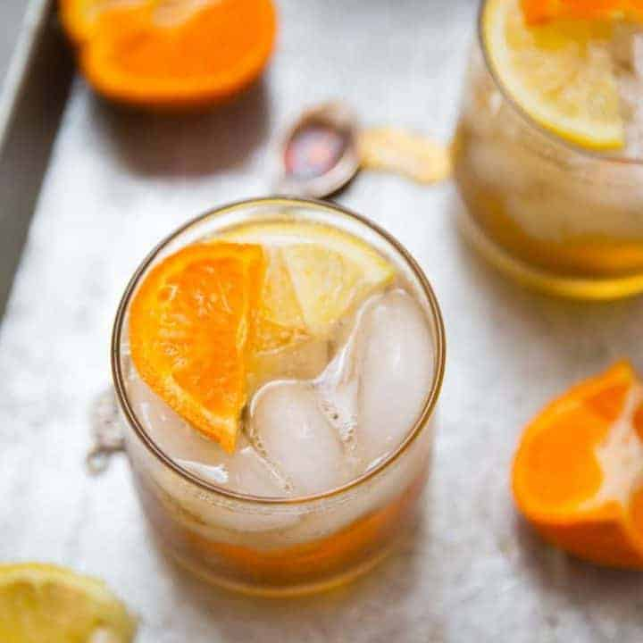 Ginger Maple Bourbon Cocktail