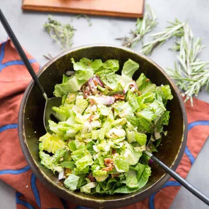 Hot Bacon Brussels Sprout Salad