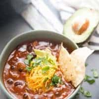 Easy brisket chili