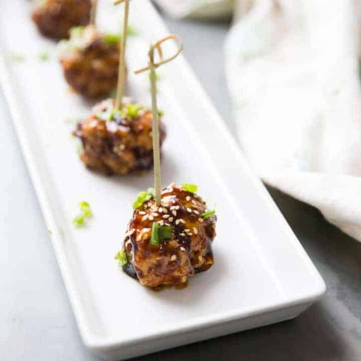 Kung Pao Cocktail Meatballs
