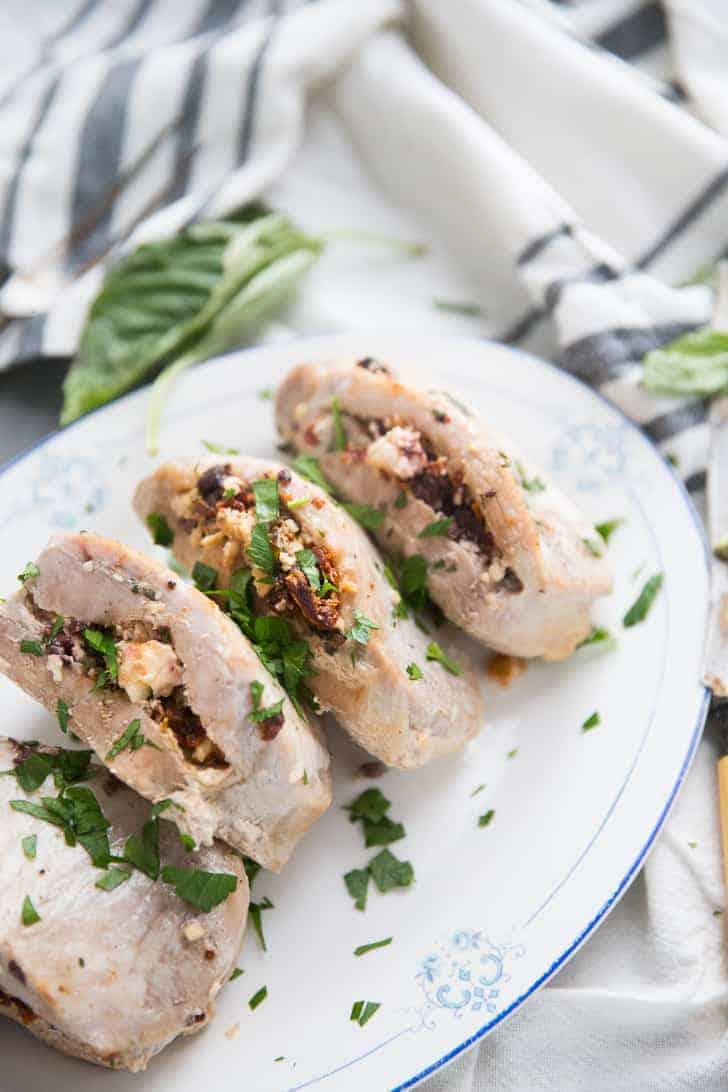 Mediterranean Stuffed Pork Chop Recipe