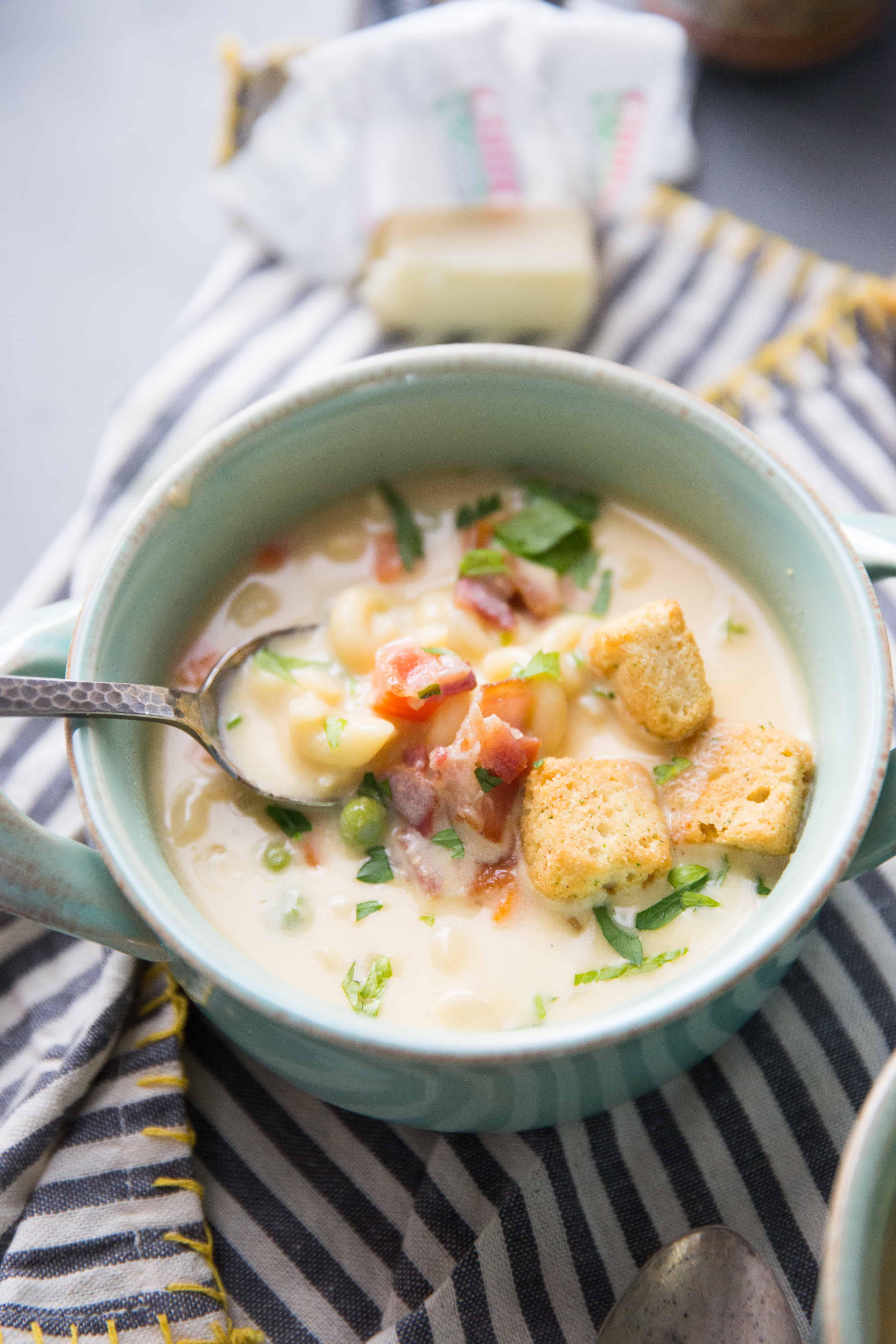 Beer Cheese and Macaroni Soup - Lemons for Lulu