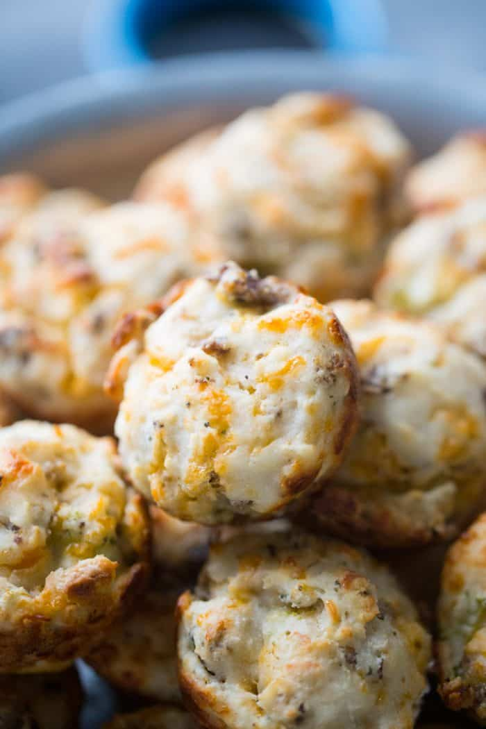 Sausage and Broccoli breakfast biscuits