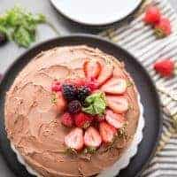 Cabernet Dark Chocolate Cake