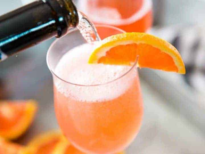 Bubbly Fuzzy Navel Cocktail Recipe Lemons For Lulu