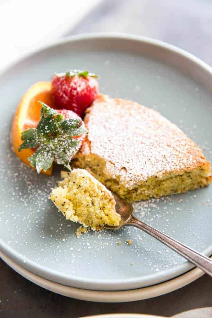 Orange Poppyseed Almond Flour Cake - Lemons for Lulu