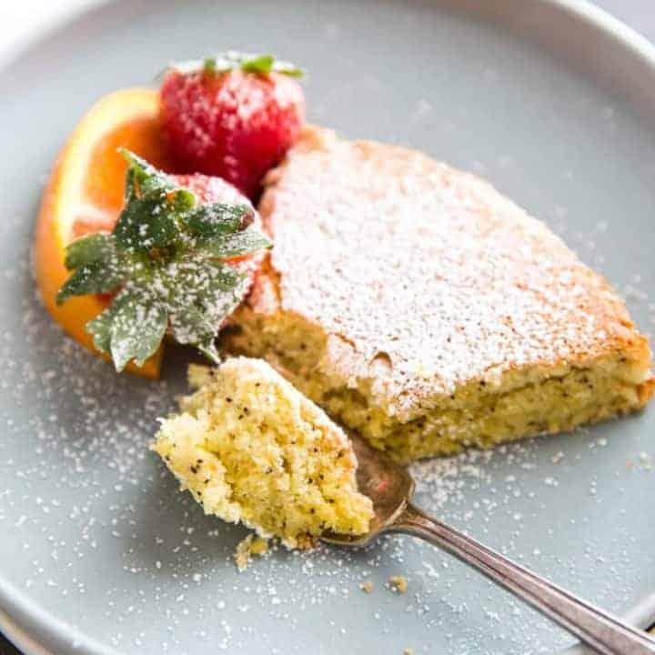 Orange Poppyseed Almond Flour Cake