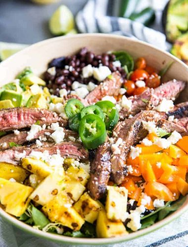 Easy taco salad recipe close up