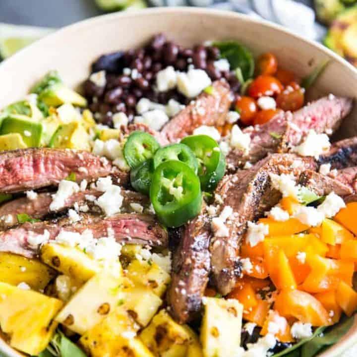 Easy Taco Salad Recipe with Steak