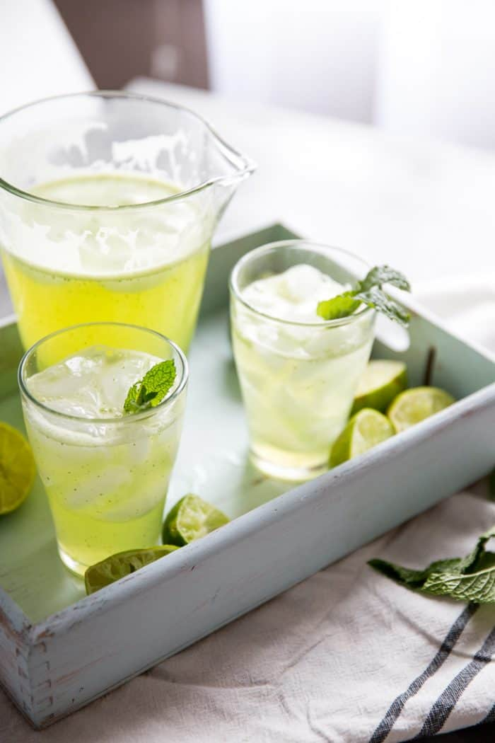 Agua Fresca recipe with lime and mint