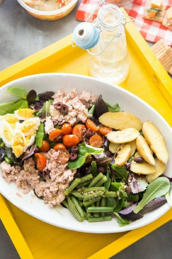 Nicoise salad close