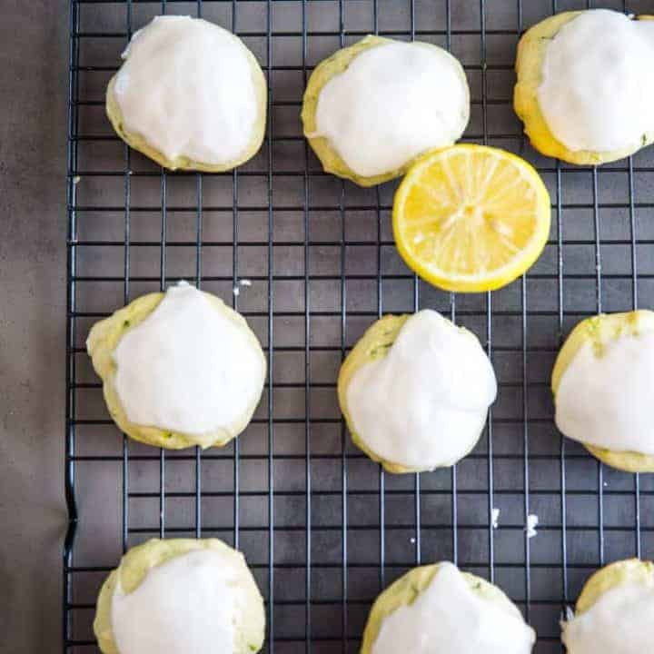 Olive Oil and Lemon Zucchini Cookies