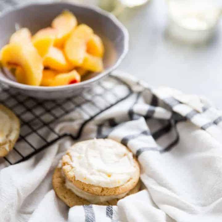 Peach Bellini Sugar Cookies