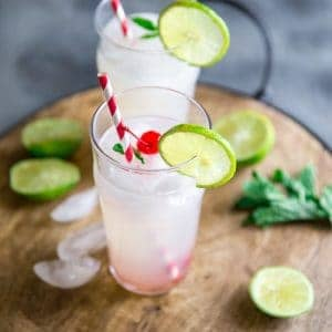 Cherry vodka lemonade two