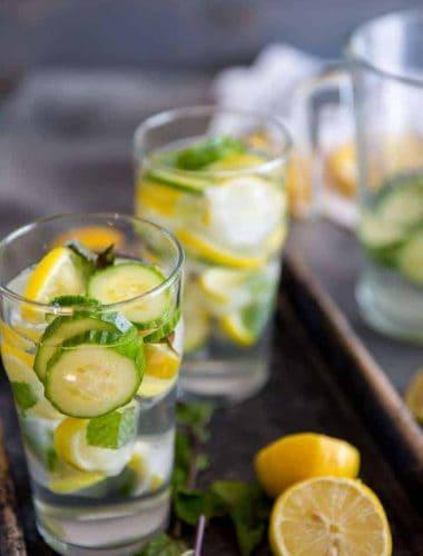 Cucumber Lemon Water two glasses