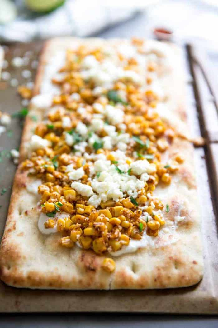 Flatbread pizza Mexican Street Corn