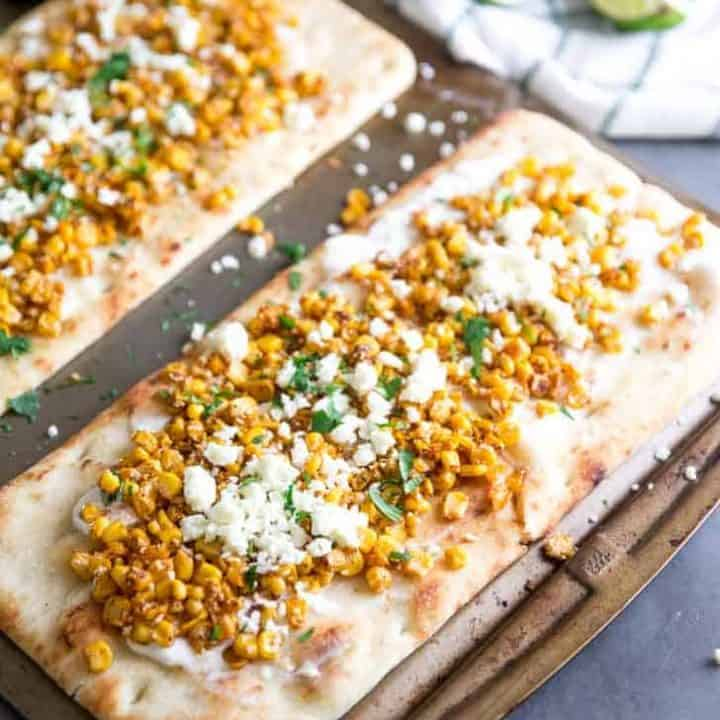Mexican Street Corn Flatbread Pizza