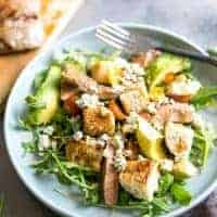 Black and Blue Steak Panzanella Salad