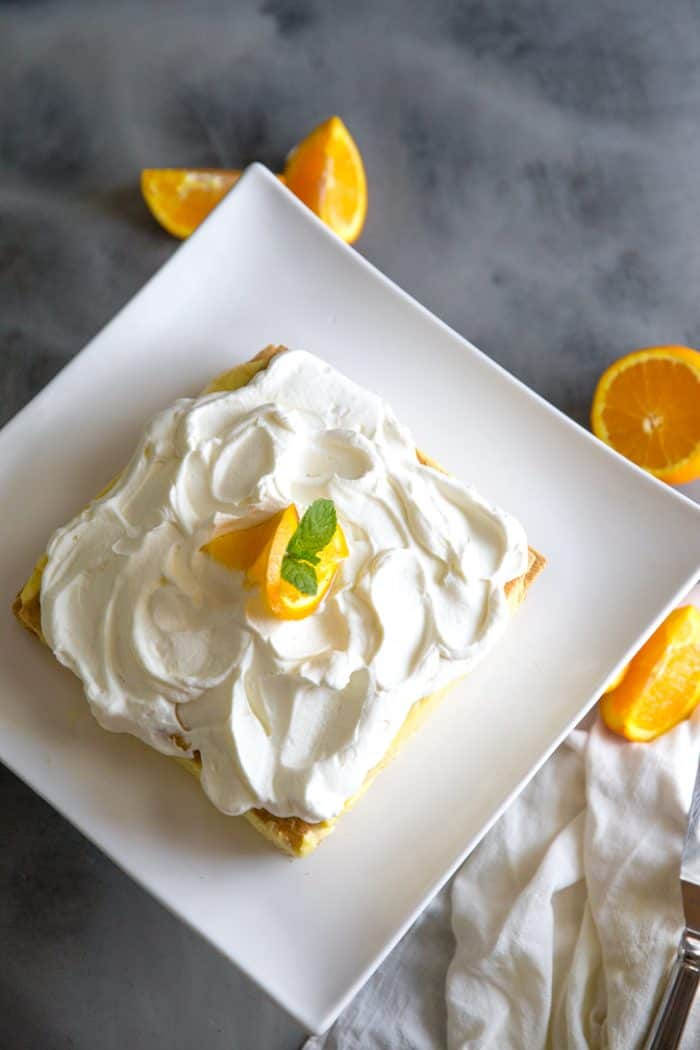 orange creamsicle icebox cake whole