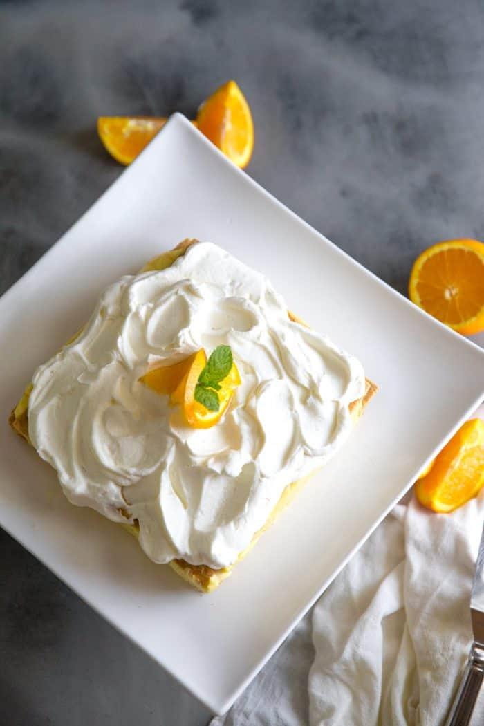 orange creamsicle icebox cake whole