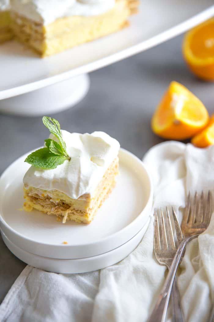orange creamsicle icebox single slice