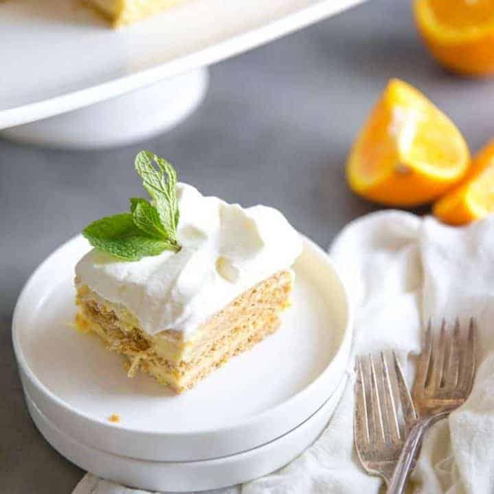 Orange Creamsicle Ice Box Cake