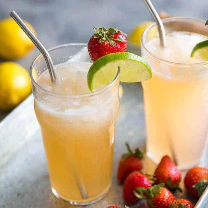 Strawberry Lemonade Bourbon Cocktail