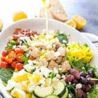 cobb salad with dressing