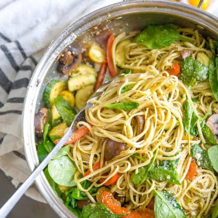 Easy Pesto Pasta Primavera Recipe