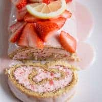 Strawberry Lemon Cake Roll