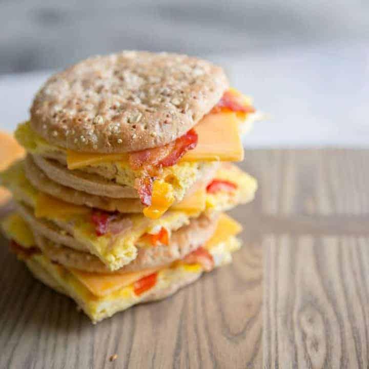 Denver Omelet Breakfast Sandwich