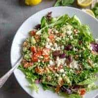 quinoa tabbouleh salad in a bowl