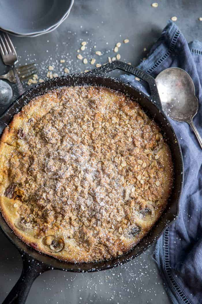 simple banana bread skillet