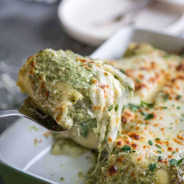 Turkey and Pesto Lasagna Rolls