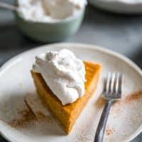 Homemade sweet potato pie one slice