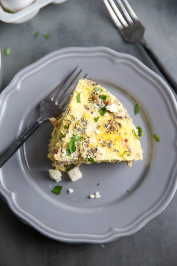 Breakfast egg casserole slice