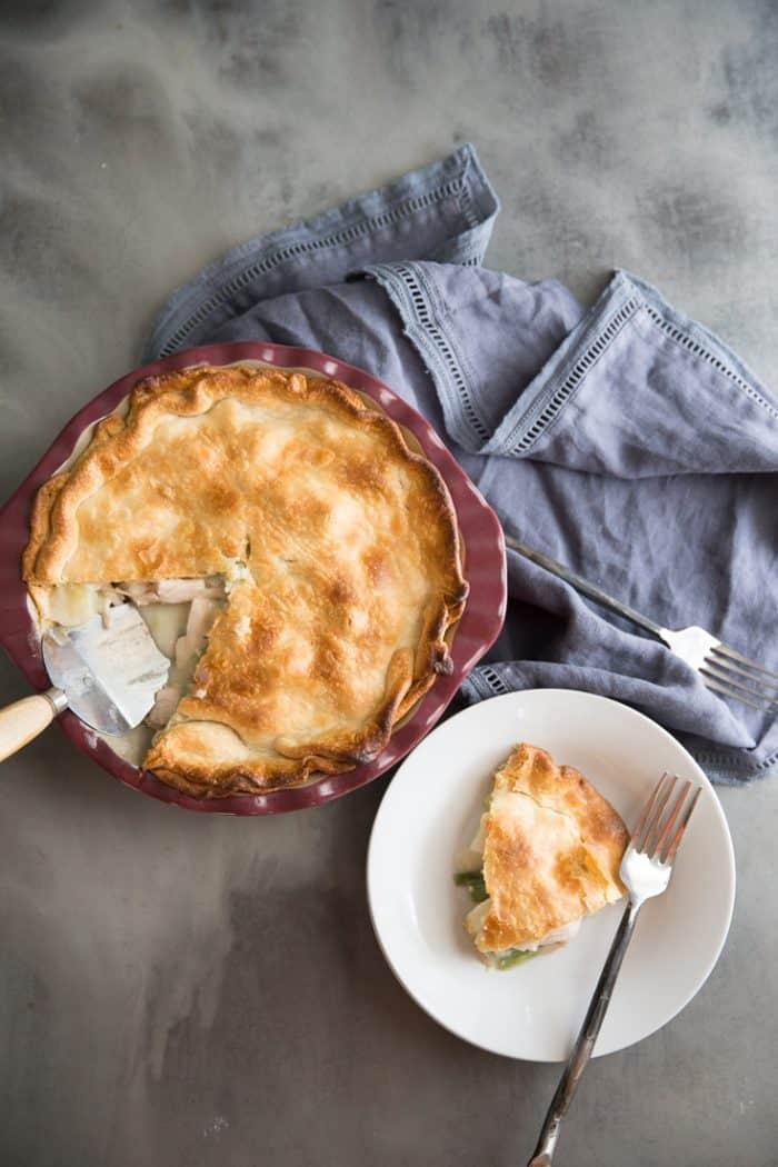 turkey pot pie recipe pie and slice