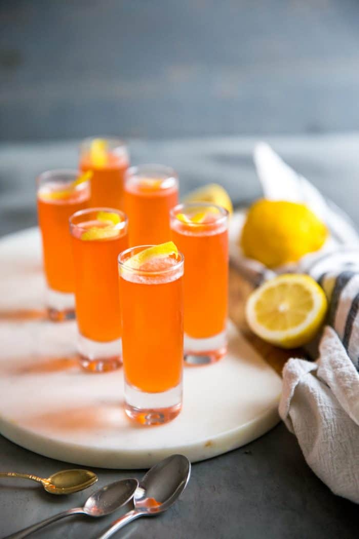 jello shots with lemon twist