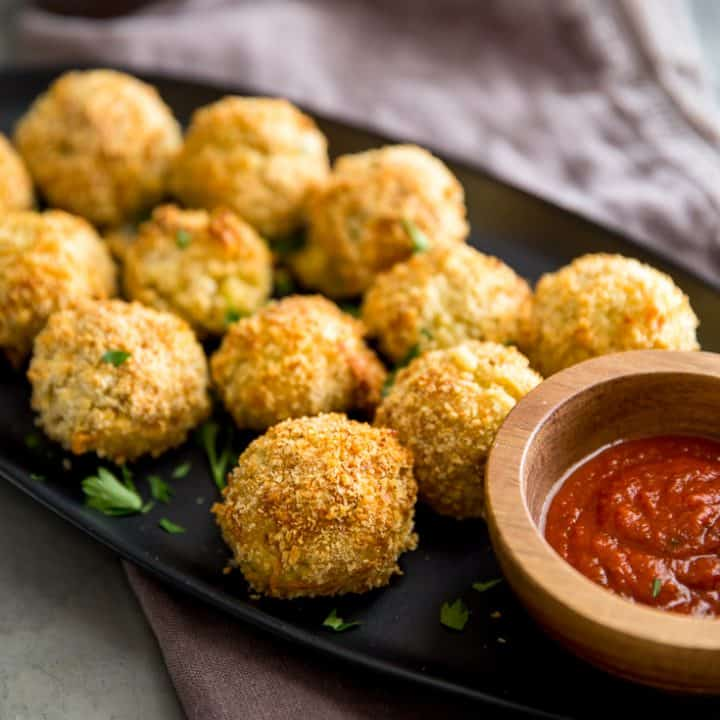 risotto balls with sauce