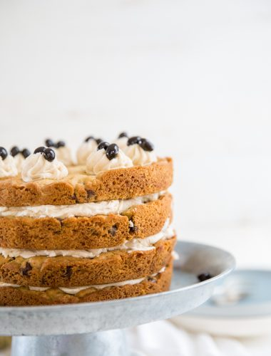 chocolate chip cake 4 layers