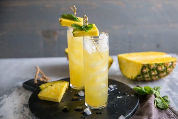 vodka cocktail with ice