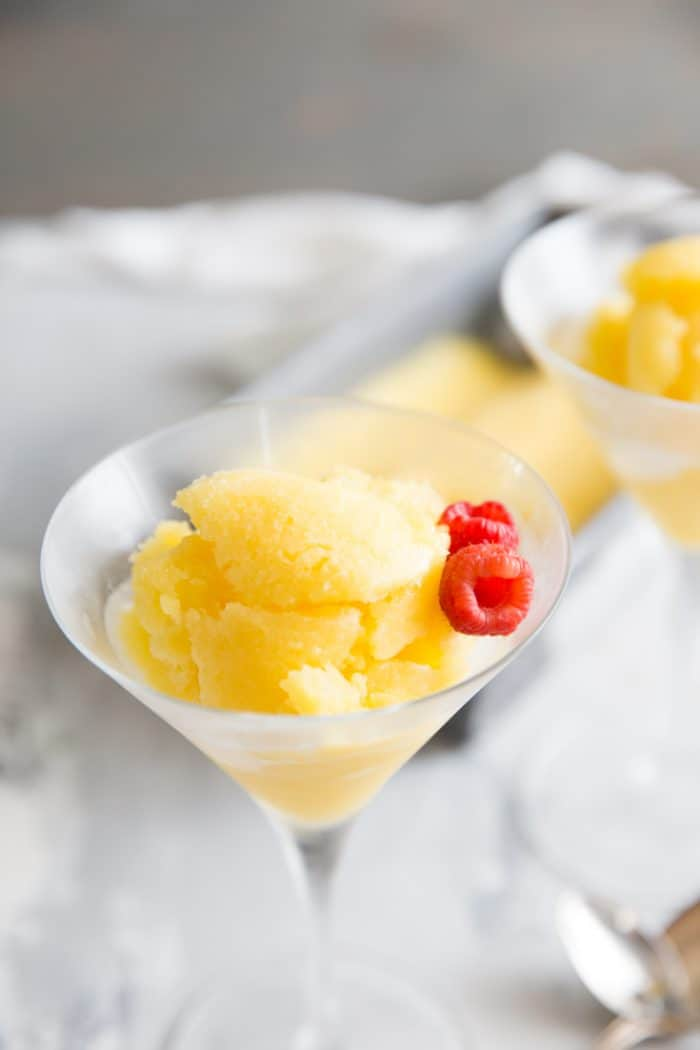 mango rum punch sorbet recipe single glass