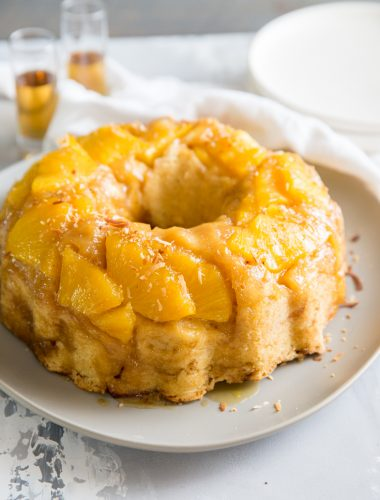 rum cake pineapple topping