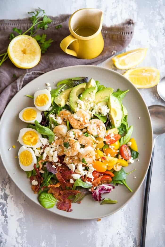 cobb salad gray plate