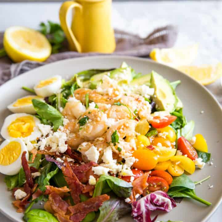 Garlic Shrimp Cobb Salad