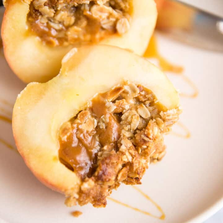 Nutty Caramel Stuffed Baked Apples